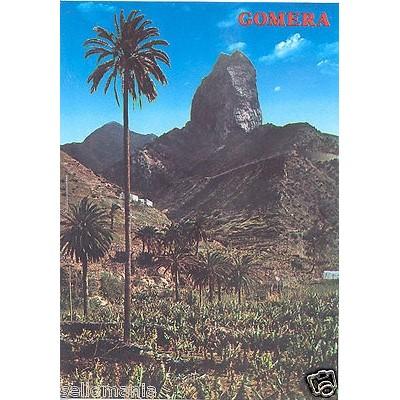 POSTAL ISLA DE LA GOMERA VALLE HERMOSO ROQUE CANO CANARIAS POSTCARD      CC00526