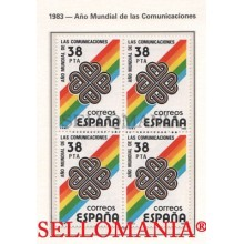 1983 COMUNICACIONES COMMUNICATIONS RAINBOW STRIPE EDIFIL 2709 ** MNH B4 TC21488