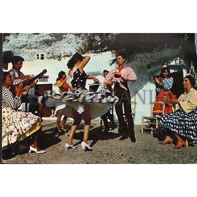ANTIGUA POSTAL BAILES GITANOS ESPAÑA TIPICAL DANCES POSTCARD POSTKARTE   CC01428