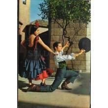 ANTIGUA POSTAL DE BAILES TIPICOS ESPAÑOLES DANCES POSTCARD POSTKARTE     CC01429