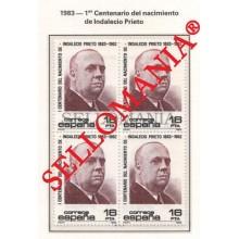 1983 INDALECIO PRIETO POLITICS SOCIALISM POLITIQUES ED 2731 ** MNH B4 TC21497