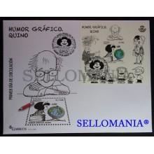 2017 GRAPHIC HUMOR GRAFICO MAFALDA QUINO EDIFIL 5135 SPD FDC      TC20274