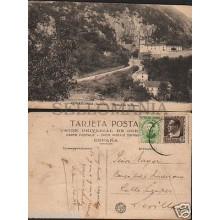 ANTIGUA POSTAL COVADONGA PAISAJE DE LA CUEVA ASTURIAS OLD POSTCARD       CC01066