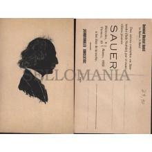 ANTIGUA POSTAL PIANISTA SAUER 1922 SALA NARBON SANTANDER OLD POSTCARD    CC01179