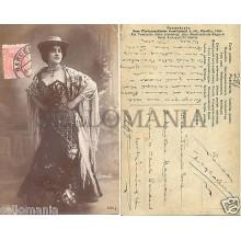ANTIGUA POSTAL MUJER ESPAÑOLA 1904 TRAJE VESTIDO POSTCARD POSTKARTE      CC00029