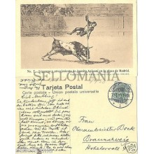 ANTIGUA POSTAL TOROS 1909 TAUROMAQUIA GOYA JUANITO APIUANI POSTCARD      CC00039