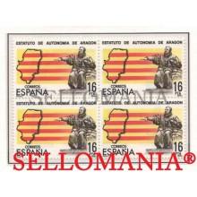 1984 ESTATUTO AUTONOMIA ARAGON AUTONOMY STATUTE  EDIFIL 2736 ** MNH B4   TC21500