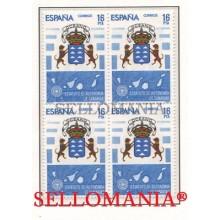 1984 ESTATUTO AUTONOMIA CANARIAS AUTONOMY STATUTE  EDIFIL 2737 ** MNH B4 TC21501