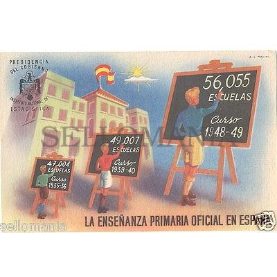 POSTAL 1940 POST GUERRA CIVIL AGUILA DE SAN JUAN FRANCO ESTADISTICA      CC00055