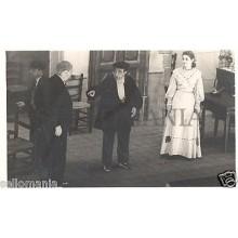 FOTO APOSTALADA AÑOS 1945-49 TEATRO CATALAN CATALUNYA EL SEÑOR SECRETARI CC00076