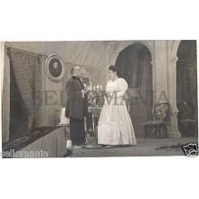 FOTO APOSTALADA AÑOS 1945-49 TEATRO CATALAN CATALUNYA MANCHA QUE LIMPIA  CC00079