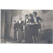 FOTO APOSTALADA AÑOS 1945-49 TEATRO CATALAN . LOS CHAMANTEROS CATALUNYA  CC00103