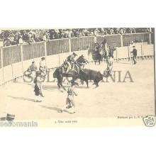 ANTIGUA POSTAL TOROS UNA BUENA VARA EL CHICO PICADOR TORERO OLD POSTCARD CC00171