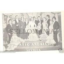 ANTIGUA POSTAL RECUERDO PATIO ANDALUZ SEVILLA FLAMENCO OLD POSTCARD      CC00184