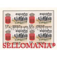 1984 ESTATUTO AUTONOMIA MADRID AUTONOMY STATUTE  EDIFIL 2742 ** MNH B4 TC21506