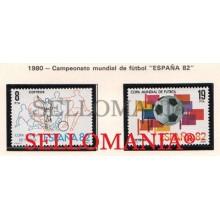 1980 CAMPEONATO MUNDIAL FUTBOL ESPAÑA 82 FOOTBALL EDI 2570 / 71 ** MNH   TC21204