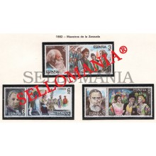 1982 MAITRES MAESTROS ZARZUELA MUSIQUE VIVES BRETON CABALLERO 2651 / 56 MNH ** TC21243 FR