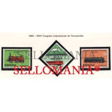 1982 FERROVIAIRES TRAIN TREN RAILWAYS LOCOMOTOR 111  2670 / 72 MNH ** TC21246 FR