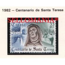 1982 SAINT TERESA SAINTE AVILA ESPAGNA SCULPTURE WRITER 2674 MNH ** TC21249 FR