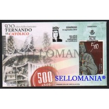 2016 FDC SPD 500 YEARS AFTER THE DEATH FERNANDO EL CATOLICO 500 AÑOS FALLECIMIENTO EDIFIL 5077  TC20416