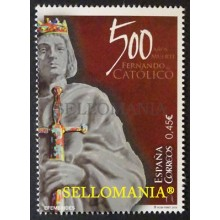 2016 500 YEARS AFTER THE DEATH FERNANDO EL CATOLICO 500 AÑOS FALLECIMIENTO EDIFIL 5077 ** MNH   TC20414