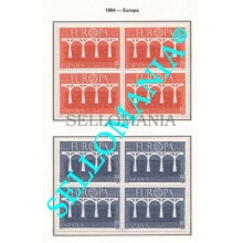 1984 EUROPA CEPT EUROPE PUENTES BRIDGES EDIFIL  2756 / 57 ** MNH B4 TC21511