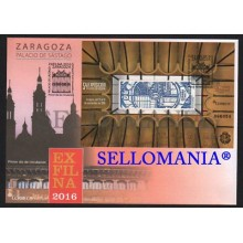 2016 FDC SPD EXFILNA VIDRIERA STAINED GLASS PALACE PALACIO SASTAGO ZARAGOZA EDIFIL 5076  TC20412