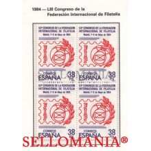 1984 CONGRESO FILATELIA CONGRESS PHILATELY EDIFIL  2755 ** MNH B4 TC21513