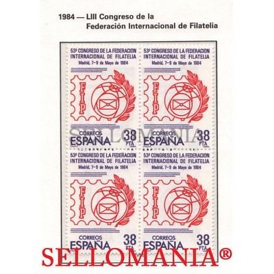 1984 CONGRESO FILATELIA CONGRESS PHILATELY EDIFIL  2755 ** MNH B4 TC21513
