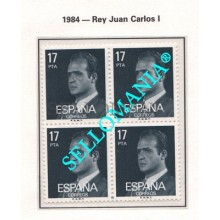 1984 JUAN CARLOS I REY DE ESPAÑA KING OF SPAIN  EDIFIL  2761 ** MNH B4 TC21514