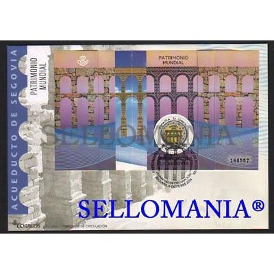 2016 FDC SPD ACUEDUCTO DE SEGOVIA PATRIMONIO MUNDIAL WORLD HERITAGE AQUEDUCT OF SEGOVIA EDIFIL 5084 TC20434