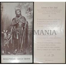 OLD SAINT JOPSEPH HOLY CARD YEAR 1954 ANDACHTSBILD SANTINI IMAGE PIEUSE  CC573