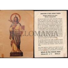 OLD SAINT JUDE THE APOSTLE THADDAEUS HOLY CARD ANDACHTSBILD SANTINI CC577