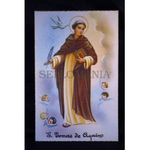 OLD SAINT THOMAS AQUINAS POSTCARD ESTAMPA POSTAL SANTO TOMAS DE AQUINO  CC51