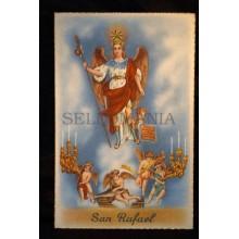 OLD SAINT ARCHANGEL RAPHAEL POSTCARD HOLY CARD ESTAMPA POSTAL SAN RAFAEL    CC57