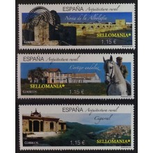 2016 ARQUITECTURA RURAL ARCHITECTURE WATERWHEEL COUNTRY HORSE NORIA CABALLO CIGARRAL EDIFIL 5086 / 88 ** MNH TC20440
