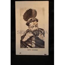 OLD SAINT DOMINIC HOLY CARD  ESTAMPA SANTO DOMINGO    SEE MY SHOP    CC108
