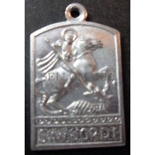 OLD SAINT GEORGE AND THE DRAGON HOLY MEDAL ALUMINUM MEDALLA ALUMINIO      CCM013