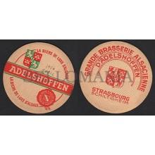 OLD BEER COASTER 1954 ADELSHOFFEN ALSACE FRANCE POSAVASOS CC008