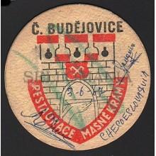 OLD BEER COASTER 1967 CZECH BUDEJOVICE  TEGESTOLOGY  POSAVASOS             CC004