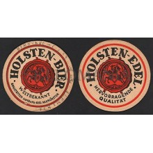 OLD BEER COASTER 1959 HOLSTEN BIER GERMANY TEGESTOLOGY POSAVASOS           CC003
