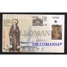 2016 FDC SPD MIRACLE MILAGRO SANTO DOMINGO CALZADA VIDRIERA ARTISTIC GLASS EDIFIL 5089 TC20444