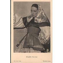 OLD POSTCARD ACTRESS GERMANY BRIGITTE HORNEY YEAR 1940 CARTE POSTALE      CC1284