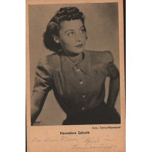 OLD POSTCARD ACTRESS GERMANY HANNELORE SCHROTH YEARS 1940 CARTE POSTALE   CC1272