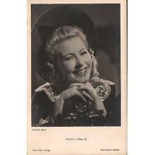 OLD POSTCARD ACTRESS GERMANY KARIN HARDT YEARS 1940 CARTE POSTALE POSTAL  CC1274