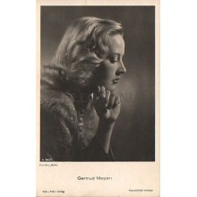 OLD POSTCARD ACTRESS GERMANY GERTRUD MEYEN YEARS 1940 CARTE POSTALE       CC1276