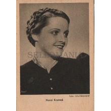 OLD POSTCARD ACTRESS GERMANY HANSI KNOTECK YEAR 1939 CARTE POSTALE POSTAL CC1282
