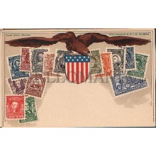 OLD STAMPS POSTCARD UNITED STATES OF AMERICA STAMPS CARTE POSTALE POSTAL  CC1265
