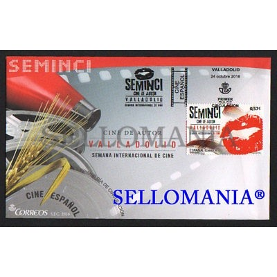 2016 FDC SPD CINE ESPAÑOL SPANISH AUTHORS CINEMA SEMINCI OF VALLADOLID LABIOS LIPS EDIFIL 5094 TC20449