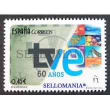 2016 60 ANNIVESARY OF SPANISH TELEVISION 60 ANIVERSARIO TVE EDIFIL 5098 ** MNH TC20457